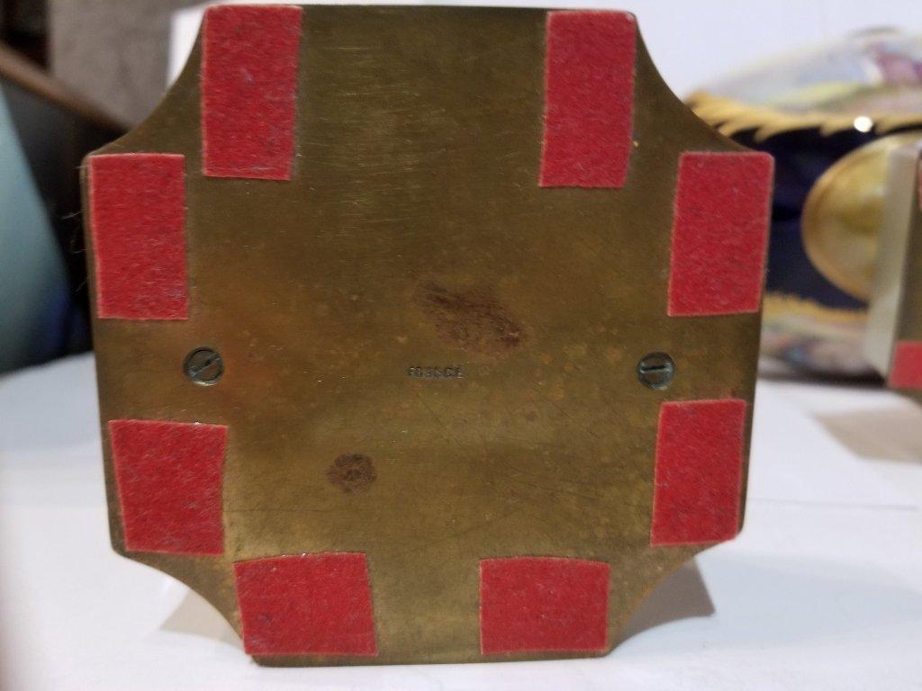 Sevres type 3 piece cobalt garniture set, c.1900 - 6