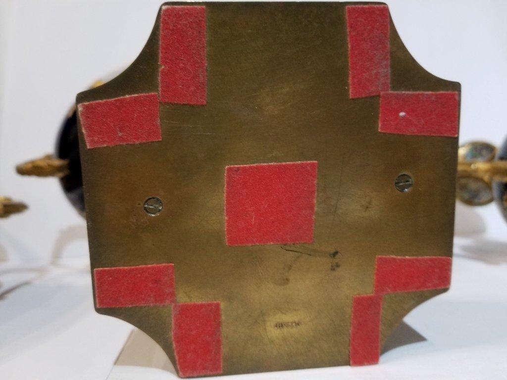 Sevres type 3 piece cobalt garniture set, c.1900 - 7