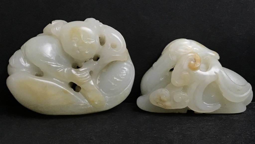 Two 19th century jade carvings