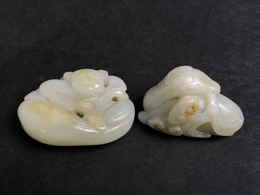 Two 19th century jade carvings - 9