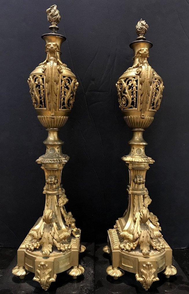 Pair of gilt bronze girandoles, c.1900 - 10