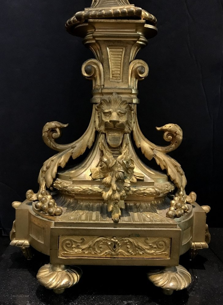 Pair of gilt bronze girandoles, c.1900 - 4
