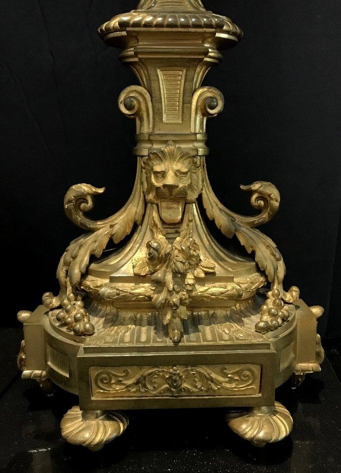 Pair of gilt bronze girandoles, c.1900 - 5