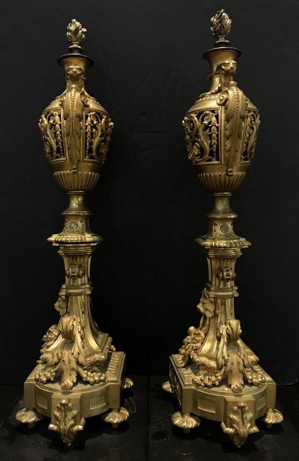 Pair of gilt bronze girandoles, c.1900 - 6