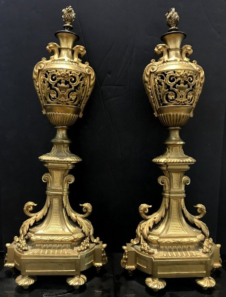 Pair of gilt bronze girandoles, c.1900 - 9
