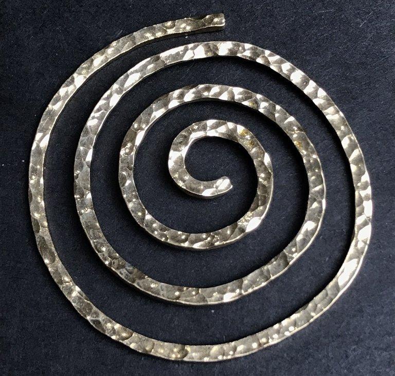 Ed Weiner 14k gold spiral, 1969, 8.8 dwts