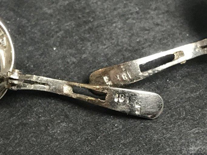 18k pearl and diamond earring clips, circa 1940. - 2