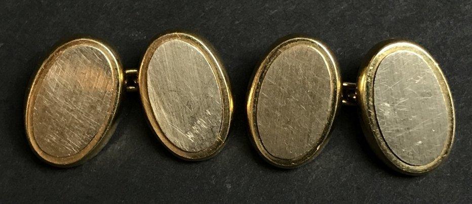 18k Carlo Weingrill cufflinks, 9.1 dwts