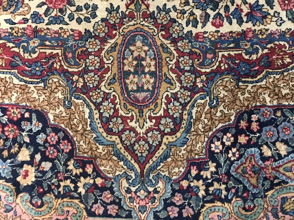 Handmade Kerman carpet, c.1950 - 4