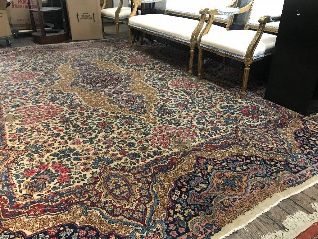Handmade Kerman carpet, c.1950 - 6