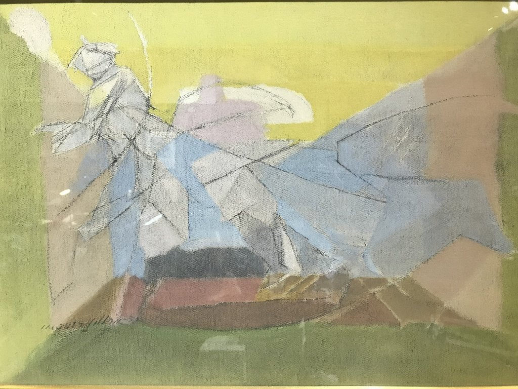 Tempera on board painting by Jacques Villon, 1950 - 5