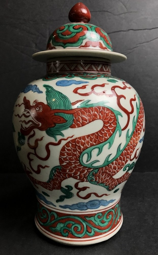 Chinese vase with 6 characters, c.1900