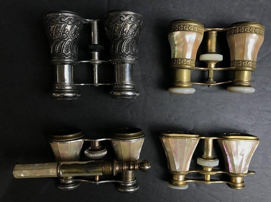 Four pairs of opera glasses, c.1900