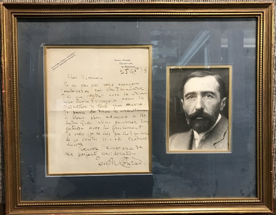 Letter signed by Joseph Conrad and dated 1918