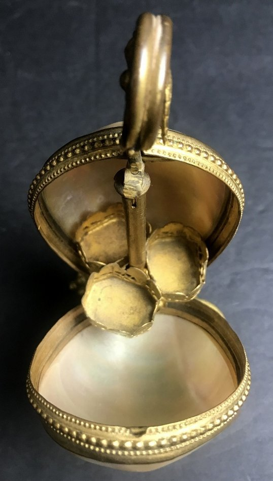 Victorian shell and brass box, c.1880 - 11