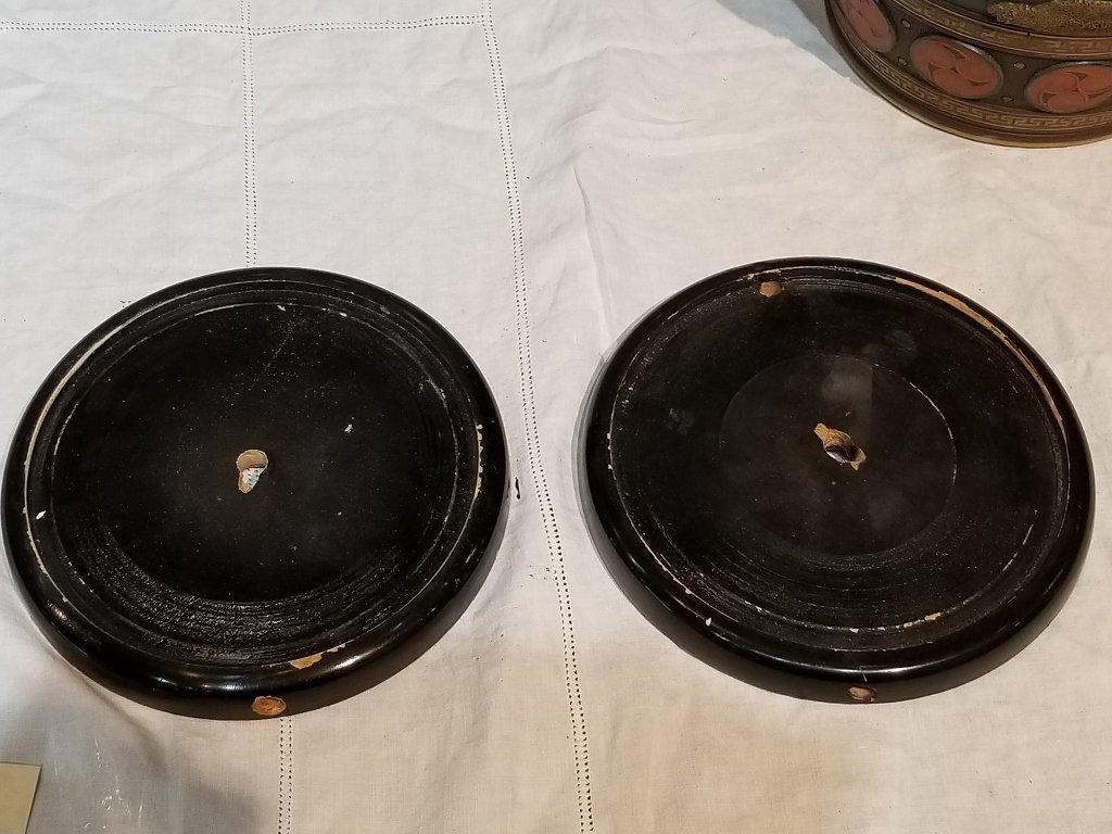 Pair of Mettlach Japanese style ceramic vases, c.1880 - 10