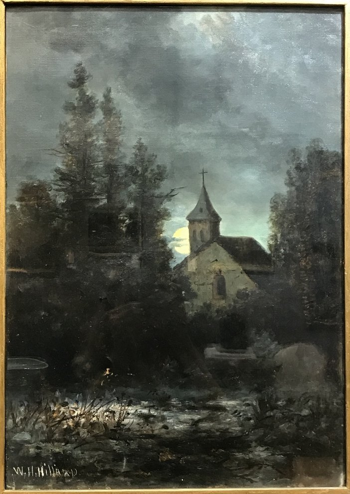 Ptg church by William Henry Hilliard,(American19th)