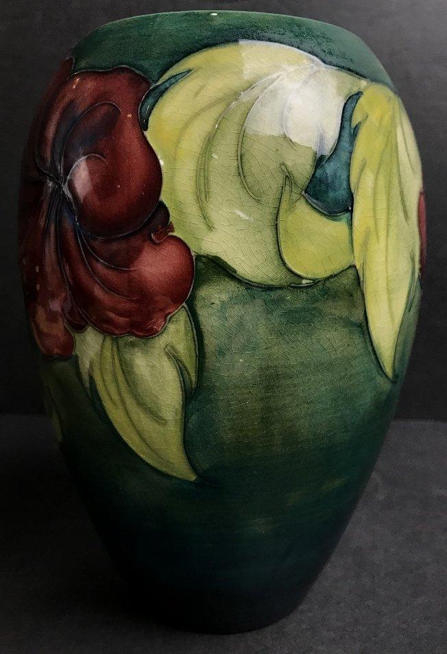 Moorcroft vase, green background, c.1930 - 4