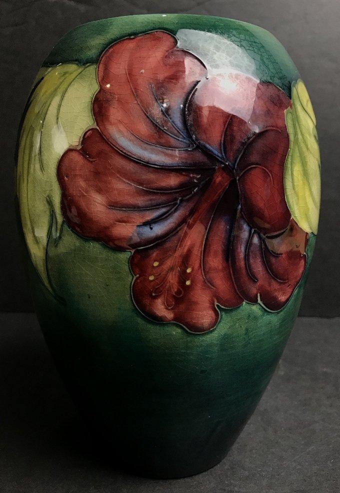 Moorcroft vase, green background, c.1930 - 5