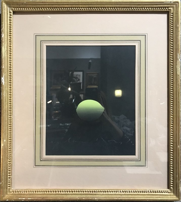Watercolor of lime, signature illegible