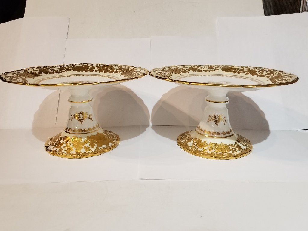 Box lot-Pair of Hammersley & Co cake plates
