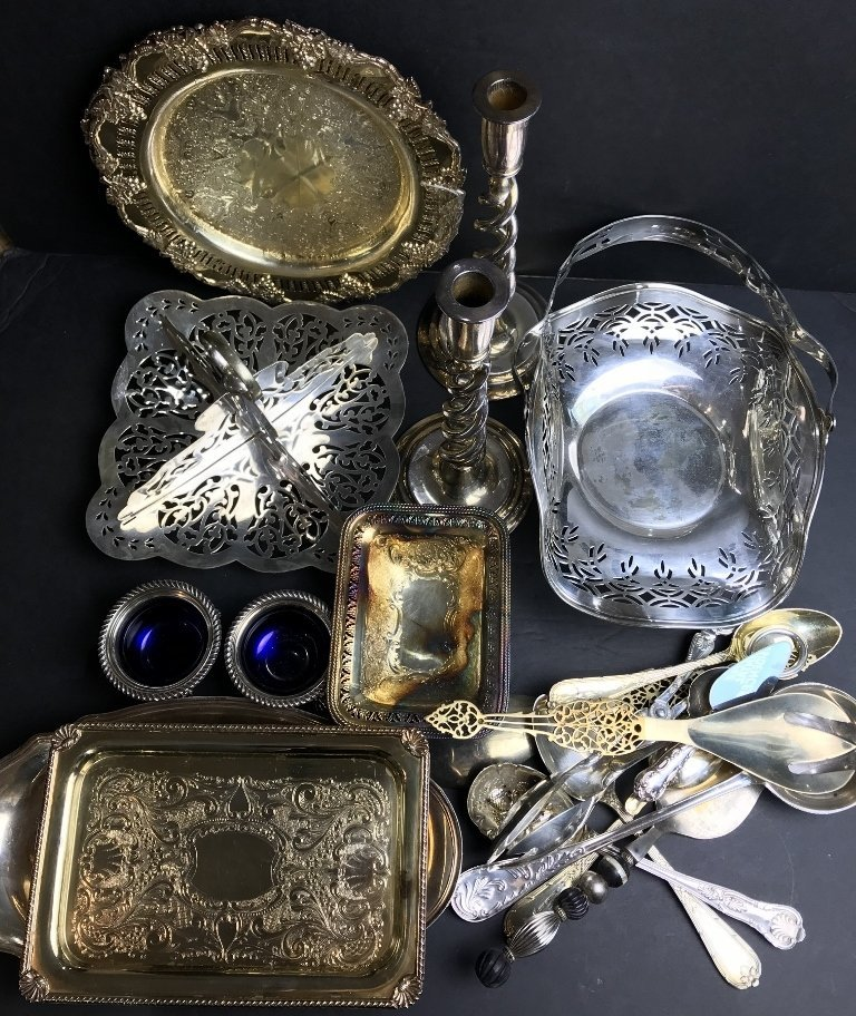 Silver plate in 2 trays