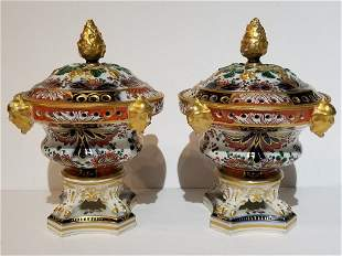 Pair of covered French compotes, c.1900