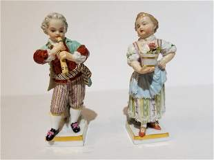 Two Meissen figurines