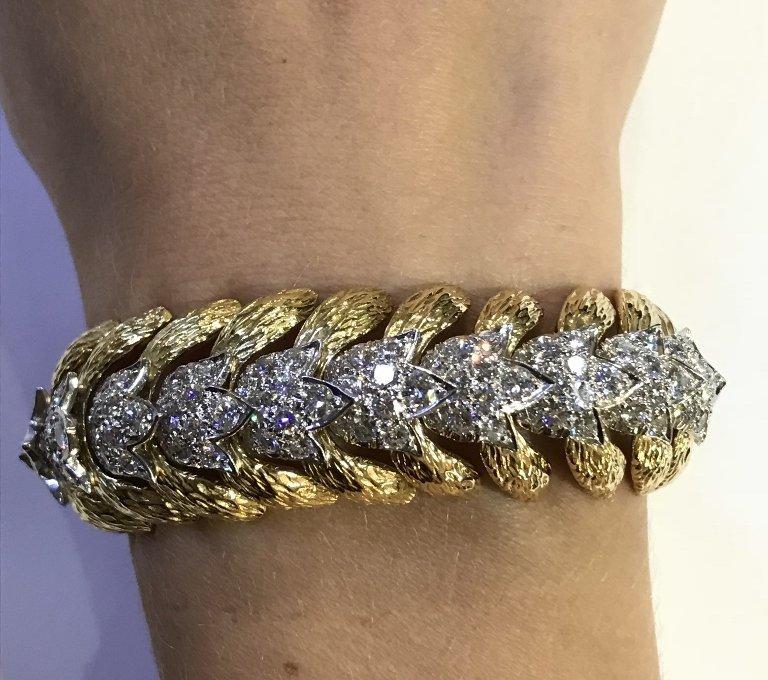 David Webb diamond bracelet w/papers, 59.2 dwts c.1970