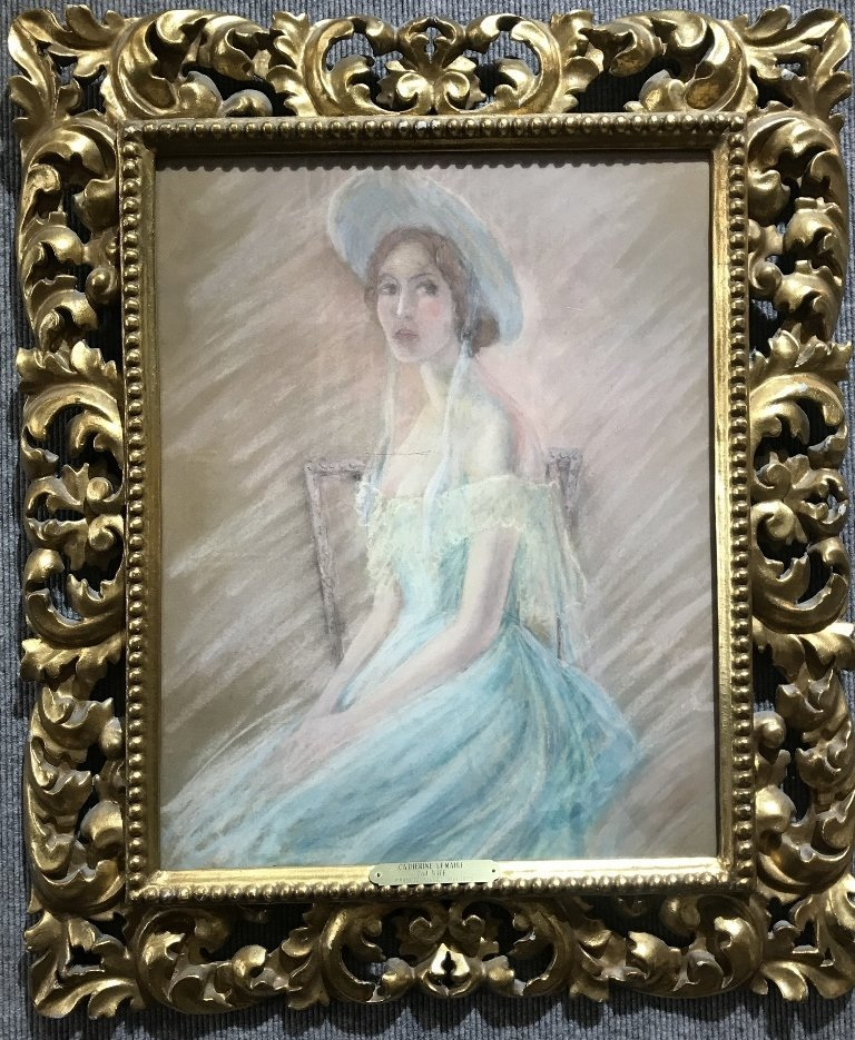 Rare pastel Catherine LeMaire by Jean Francois Millet