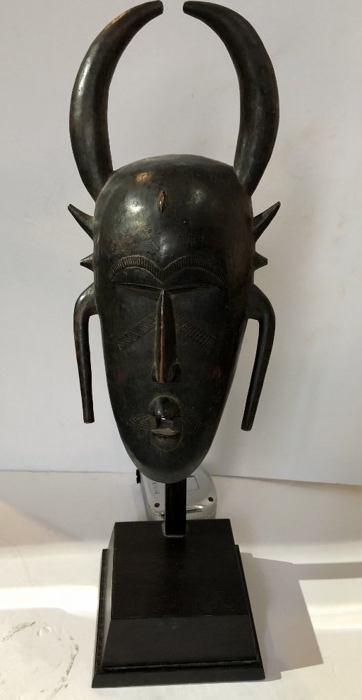 African mask used by Adam Fuss in photographs
