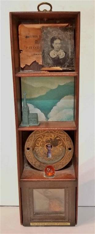 Assemblage box, signed in one section