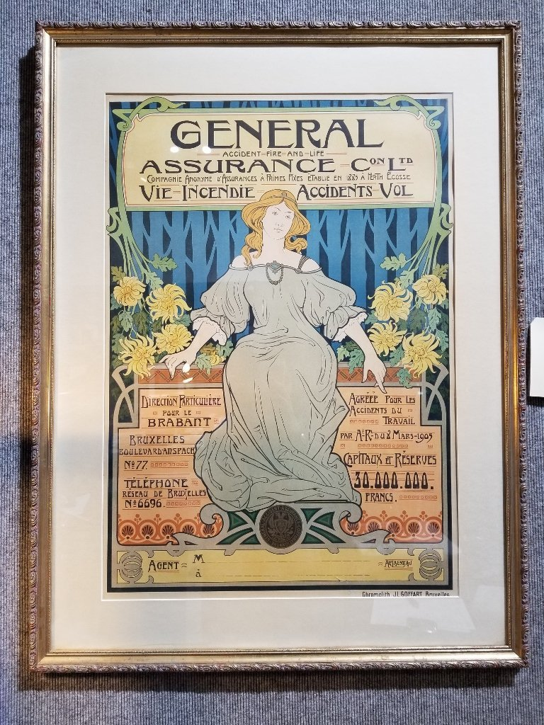 Art Nouveau insurance poster, c.1900