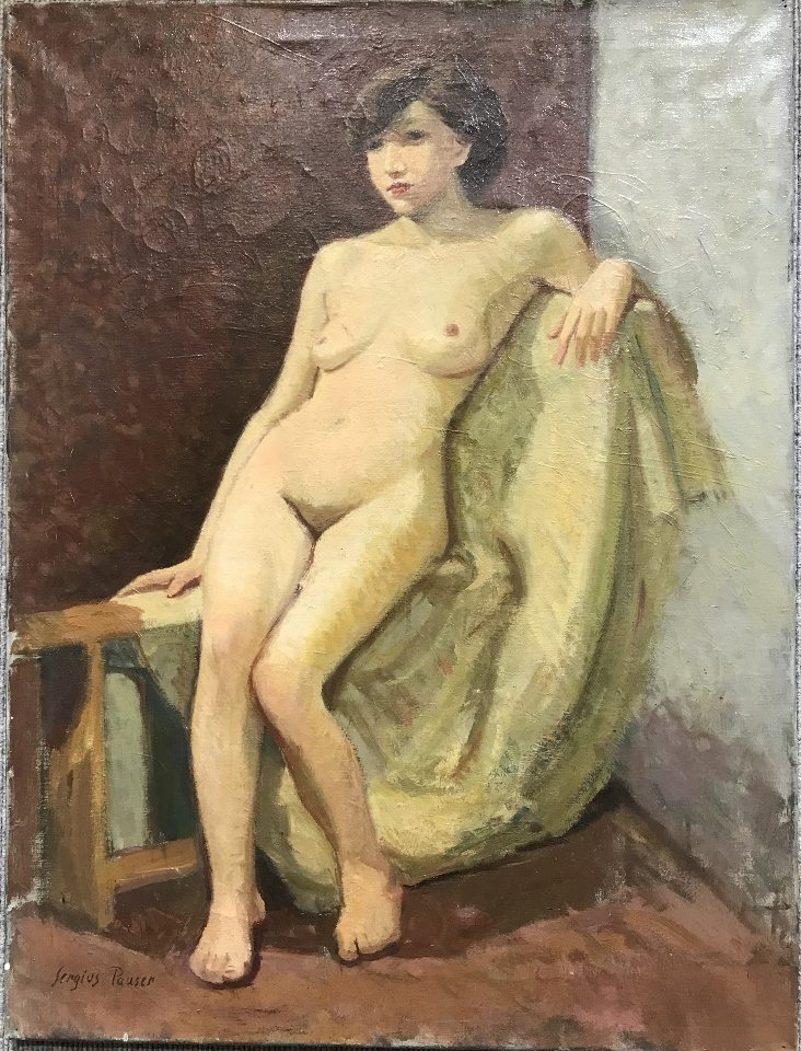 Painting of a nude by Sergius Pauser, circa 1940