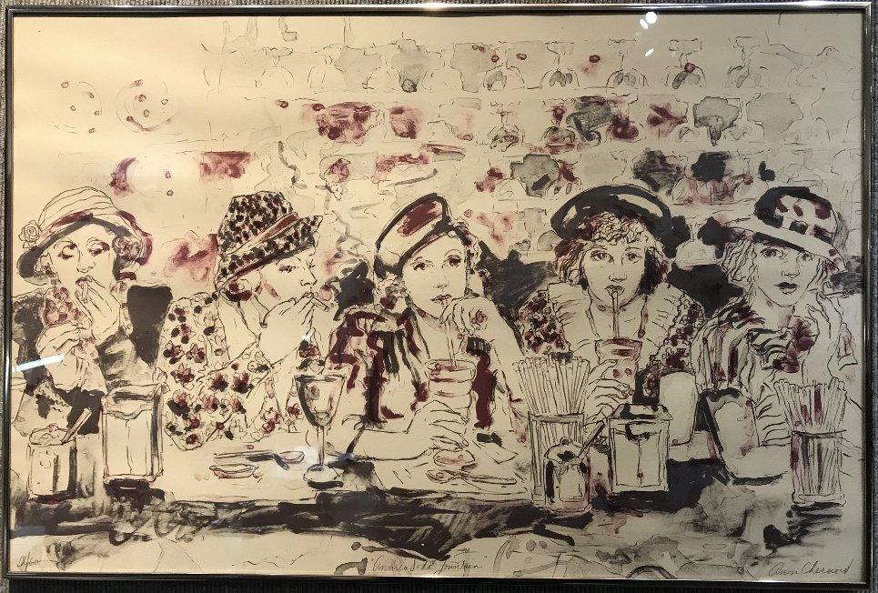 """""""Annie's Soda Fountain"""",print by Ann Chernord"""