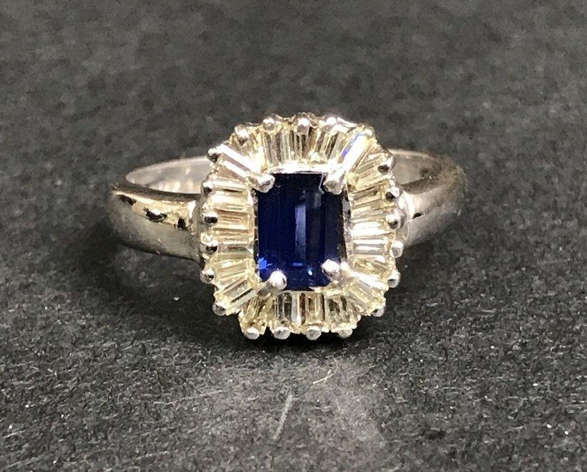 14k sapphire diamond ballerina ring, 2.3 dwts