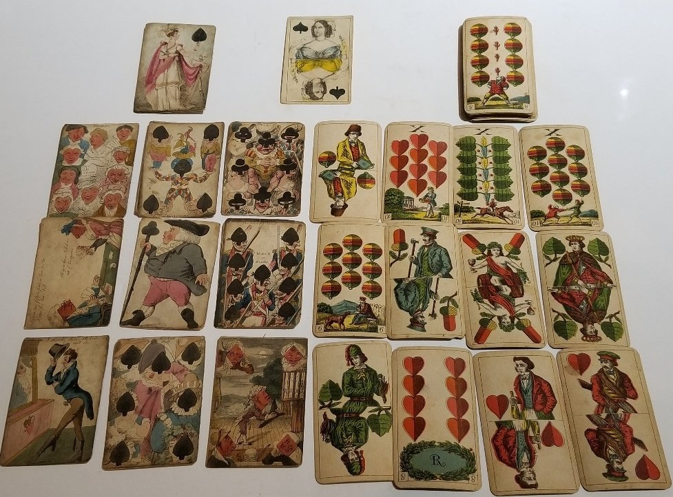 Early playing cards(2 decks) and one more