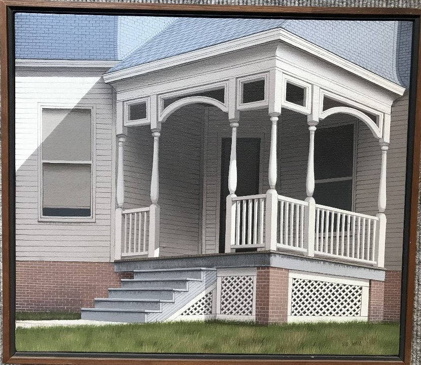 Painting of porch by Sue Wall