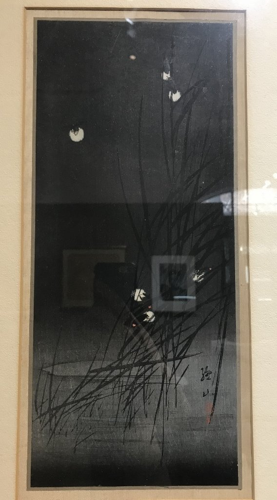 Japanese woodblock of fireflies by Ito Sozan