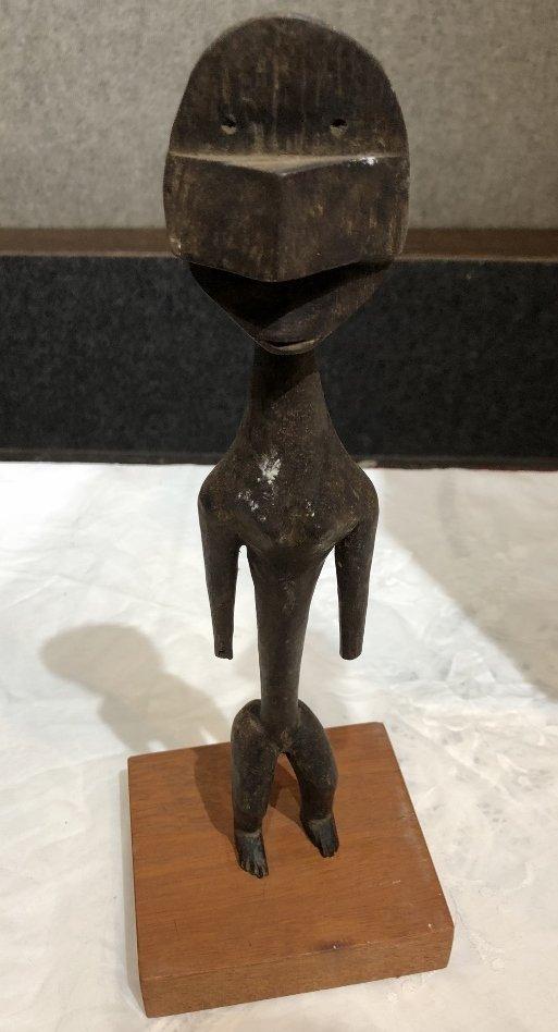 Wood tribal figure