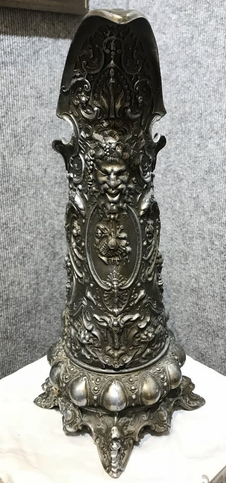 Spelter large Baroque pitcher-old repairs