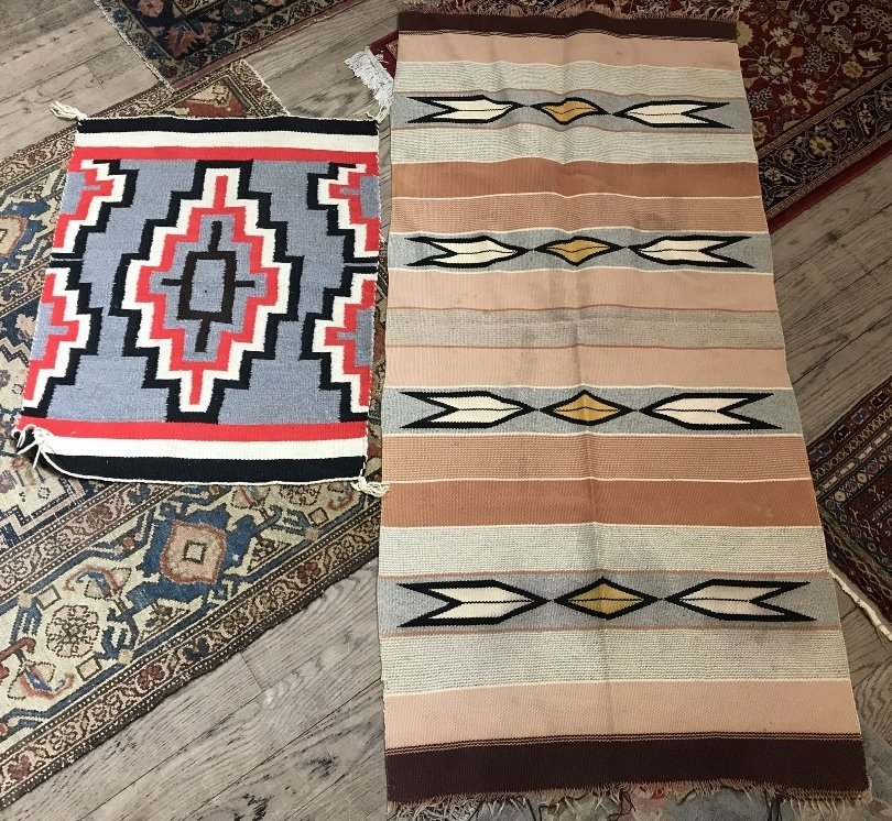 Two Native American blankets