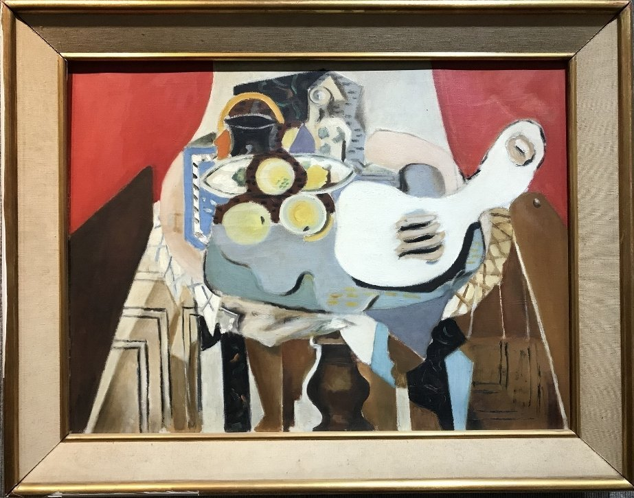Large painting of still-life, unsigned, c.1945