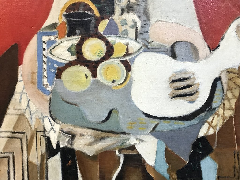 Large painting of still-life, unsigned, c.1945 - 2