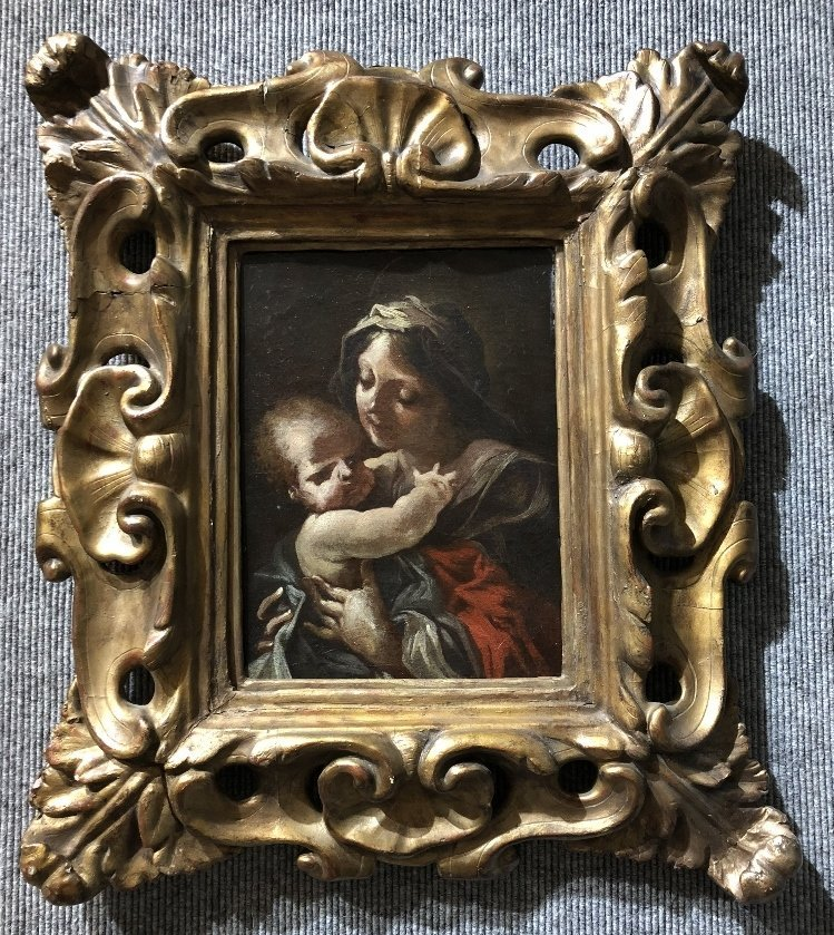 Old Master painting Mother and Child, 17th/18thc