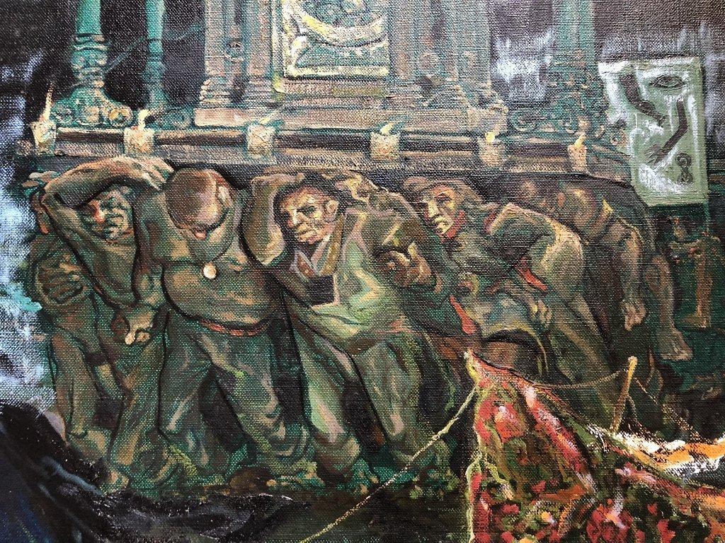 Xavier Gonzalez ptg of night procession, circa 1950 - 2