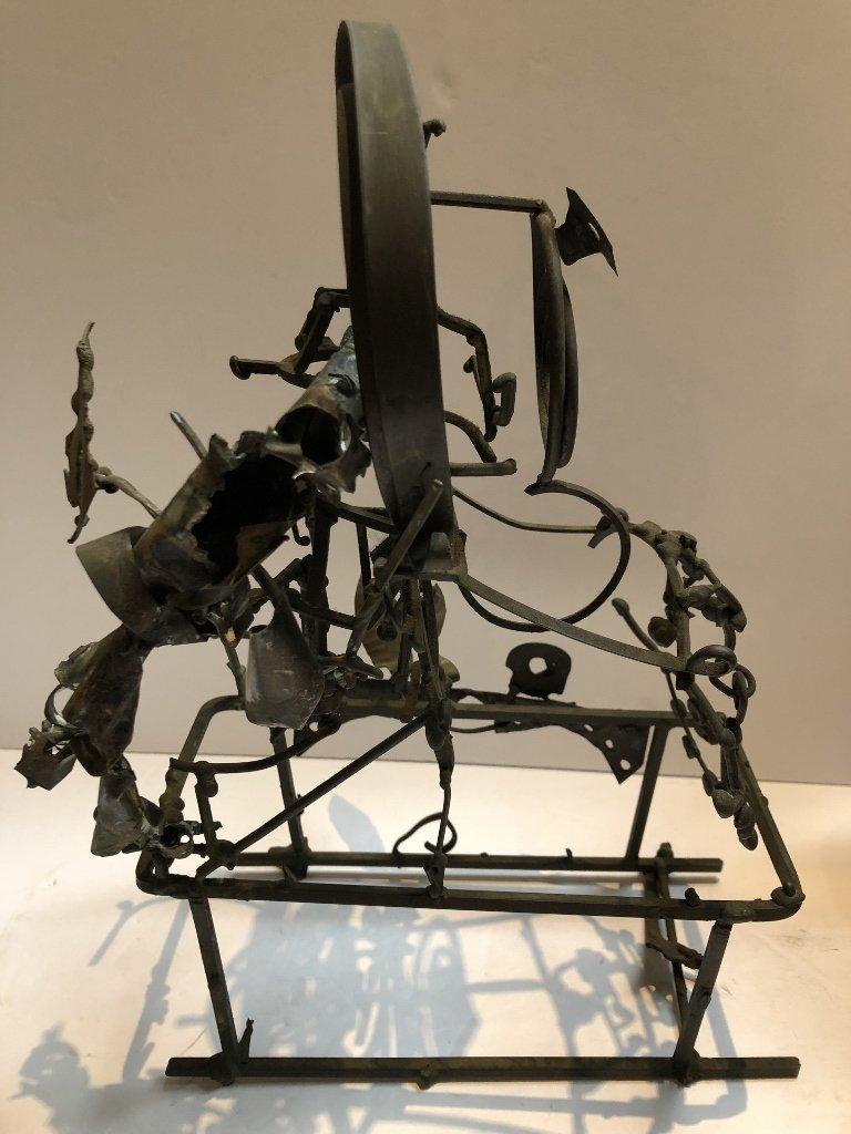 Metal and silver sculpture by Xavier Gonzalez