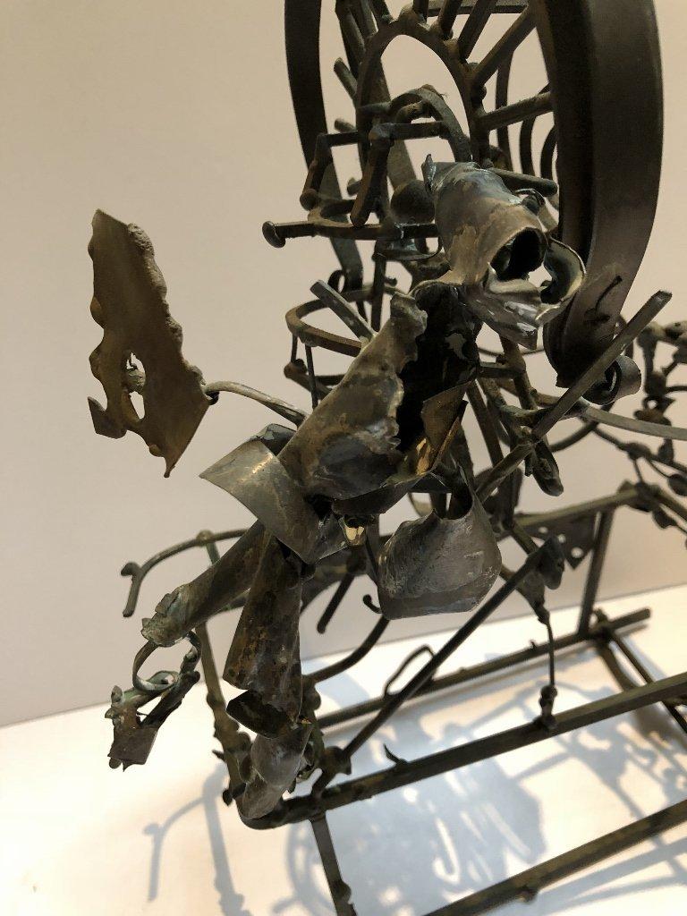 Metal and silver sculpture by Xavier Gonzalez - 4