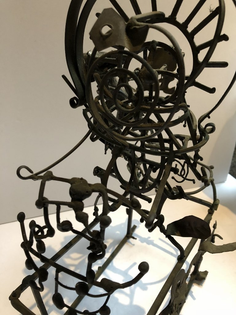 Metal and silver sculpture by Xavier Gonzalez - 5