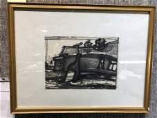 Russian print by Oscar Rabin, Ambassador
